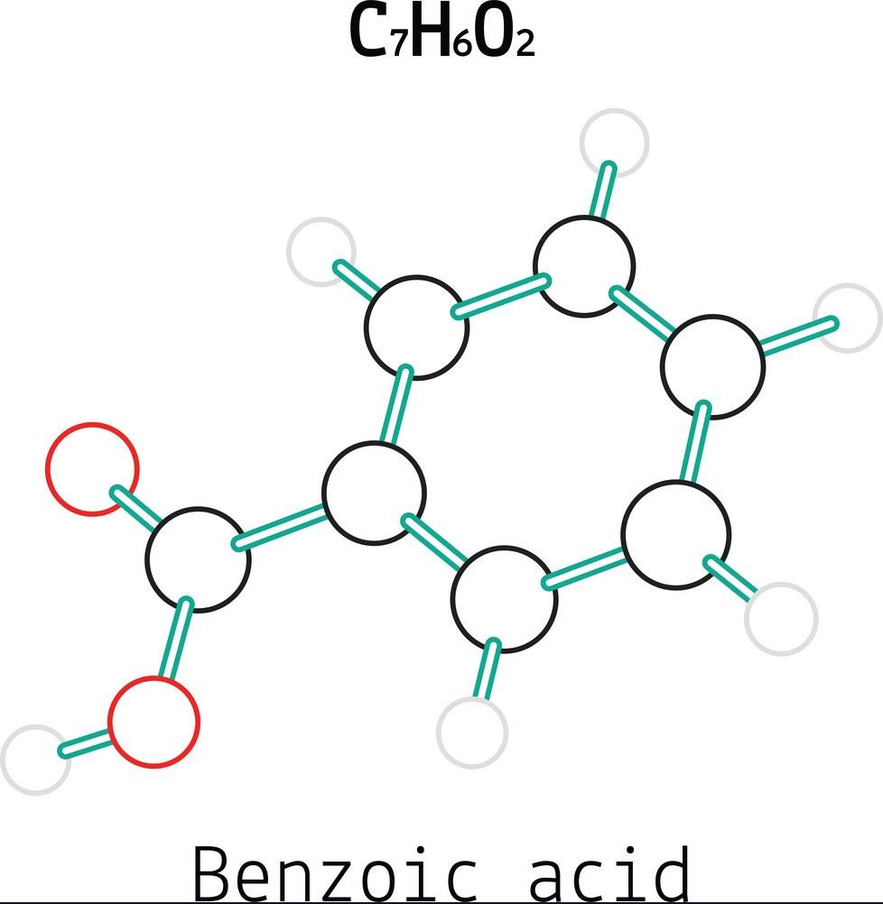تصویر از اسید بنزوئیک