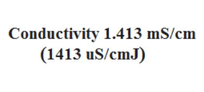 تصویر محلول استاندارد هدایت الکتریکی 1413