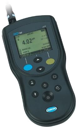 تصویر دستگاه PH متر پرتابل مدل HQ11D برند HACH (بدون الکترود)