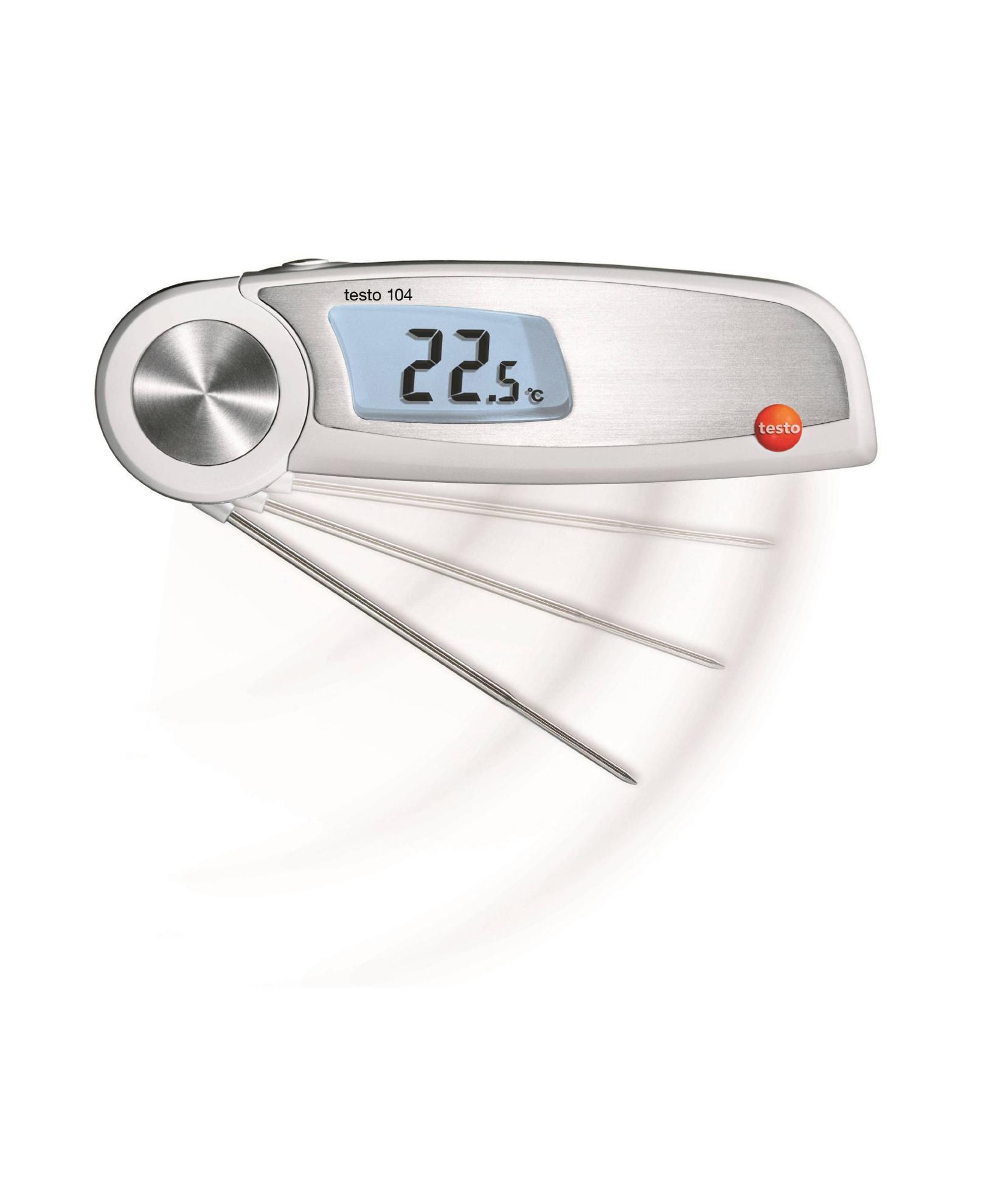تصویر ترمومتر میله ایی مخصوص مواد غذایی تستو مدل Testo 104